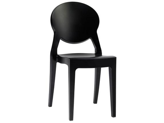 designer stuhl igloo aus kunststoff schwarz salesfever. Black Bedroom Furniture Sets. Home Design Ideas