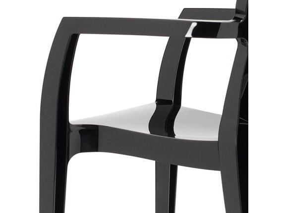 designer stuhl igloo mit armlehnen schwarz salesfever. Black Bedroom Furniture Sets. Home Design Ideas