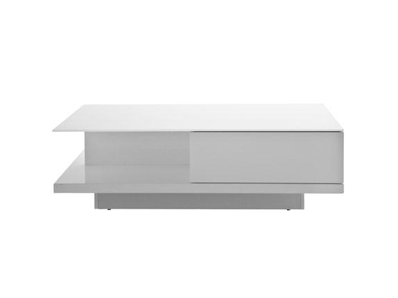 couchtisch clara mit schublade wei 120x60 cm synoun. Black Bedroom Furniture Sets. Home Design Ideas