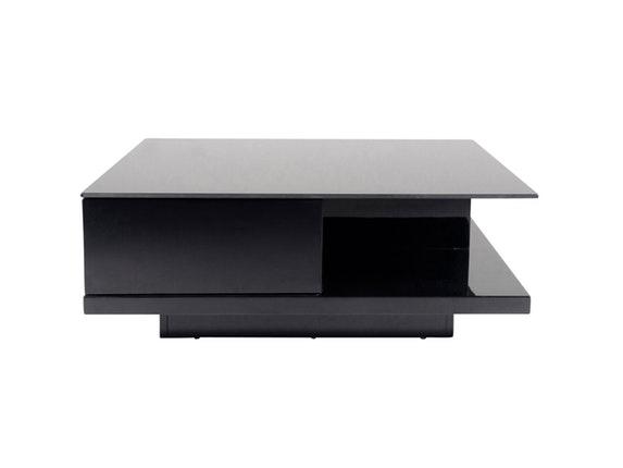 Couchtisch Clara mit Schublade schwarz 100x100 cm » Synoun ...