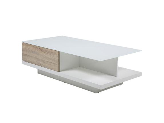 Couchtisch Clara mit Schublade weiß/Sonoma Eiche 120x60 cm » Synoun ...