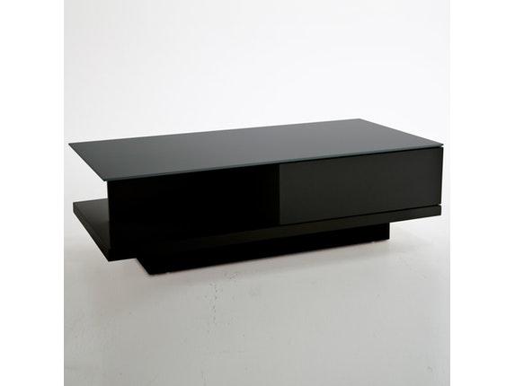 Couchtisch Clara mit Schublade schwarz 120x60 cm » Synoun ...