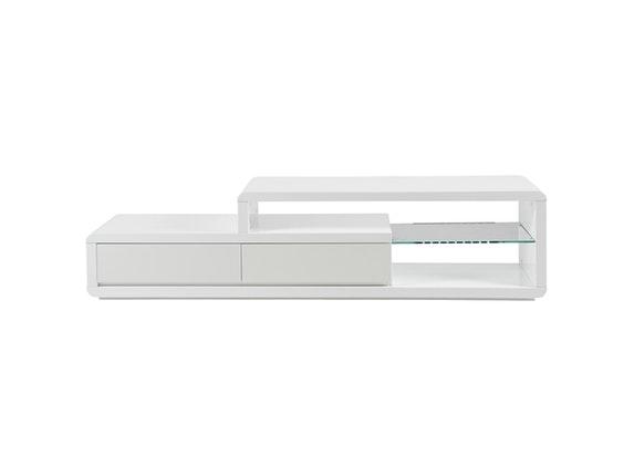 tv tisch conex mit 2 schubladen wei hochglanz synoun. Black Bedroom Furniture Sets. Home Design Ideas