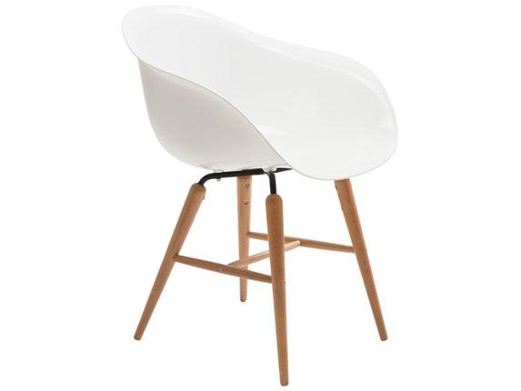 Stuhl forum wood mit holzbeinen wei for Kare design stuhl costa