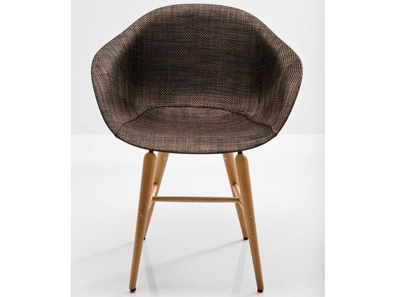 stuhl mit holzbeinen forum wood braun. Black Bedroom Furniture Sets. Home Design Ideas