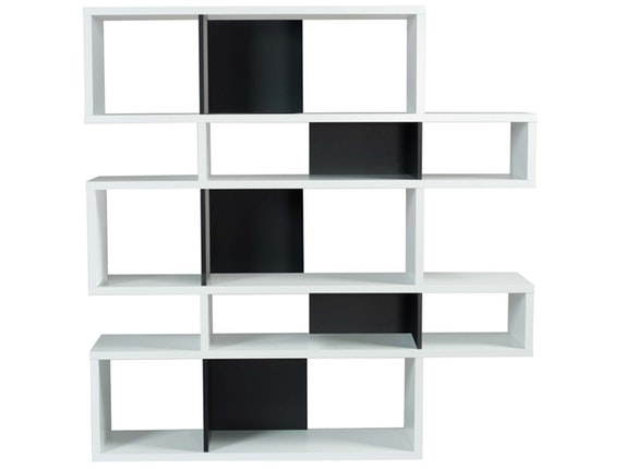 regal raumteiler london 002 wei schwarz temahome. Black Bedroom Furniture Sets. Home Design Ideas