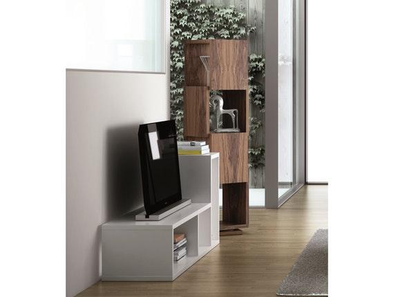 regal raumteiler shell drehbar nussbaum temahome. Black Bedroom Furniture Sets. Home Design Ideas