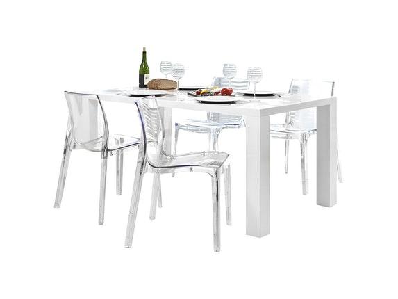 Design Stühle 13848 salesfever essgruppe luke 160x90cm 4 design stuehle sari transparent jpg