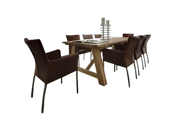 massivholz esstisch wiking gestell a form eiche ge lt. Black Bedroom Furniture Sets. Home Design Ideas