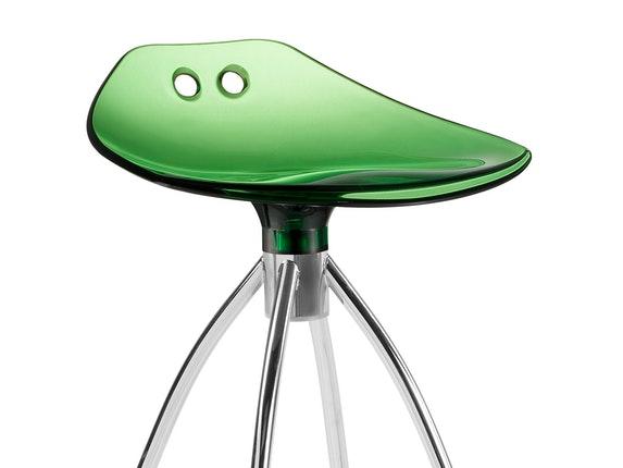 Barhocker Grün barhocker frog h65 mit chrombeinen grün transparent scab design