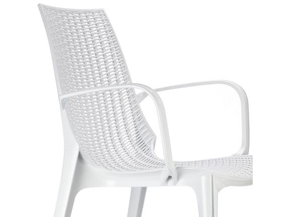 designer stuhl tricot mit armlehnen wei scab design. Black Bedroom Furniture Sets. Home Design Ideas
