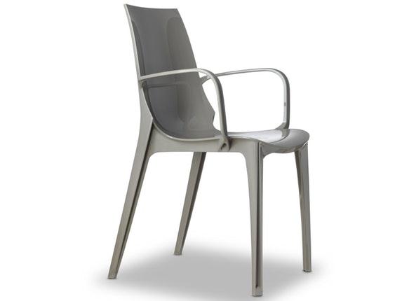 Stuhl mit armlehne grau free full size of stuhl mit for Designer stuhl gunstig