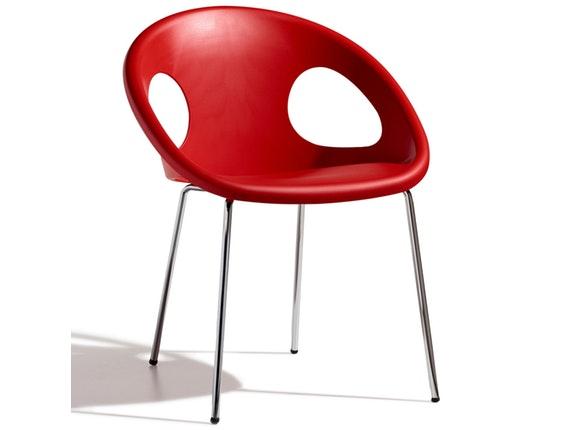 Designer stuhl drop 4 legs rot scab design for Design stuhl rot