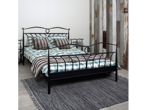 metallbett somnia geschwungenes gestell 140x200 cm schwarz synoun. Black Bedroom Furniture Sets. Home Design Ideas