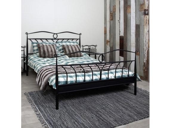 metallbett somnia geschwungenes gestell 180x200 cm schwarz. Black Bedroom Furniture Sets. Home Design Ideas