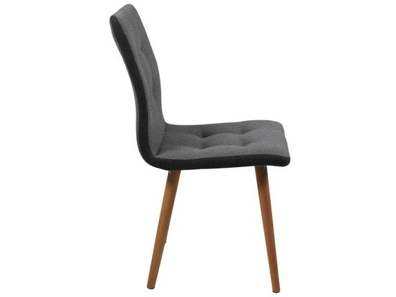 stuhl 2er set molina mit stoffbezug hellgrau synoun. Black Bedroom Furniture Sets. Home Design Ideas
