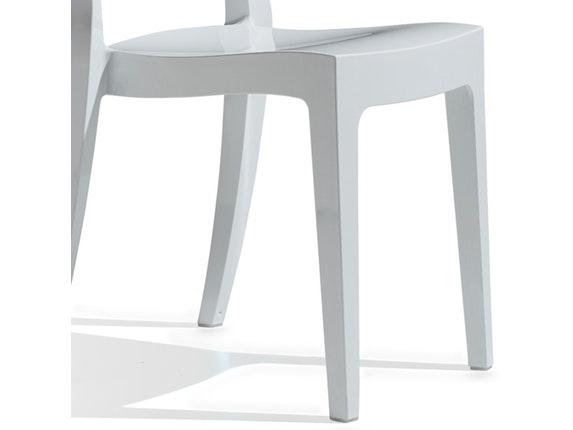 designer stuhl isy kunststoff hochglanz linen scab design. Black Bedroom Furniture Sets. Home Design Ideas
