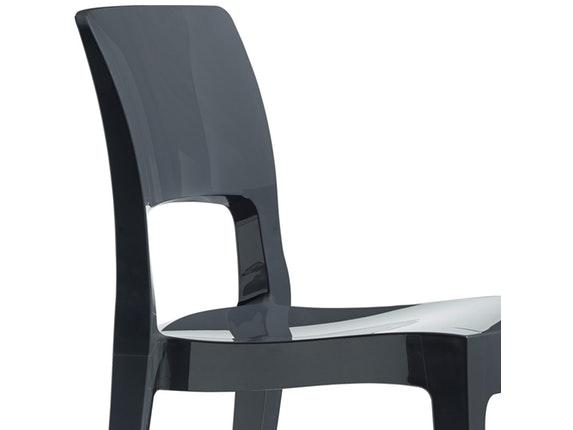 designer stuhl isy kunststoff hochglanz anthrazit scab design. Black Bedroom Furniture Sets. Home Design Ideas