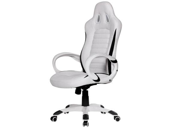 Schreibtischstuhl Design | Schreibtischstuhl Nava Racing Design Weiss Salesfever Salesfever De