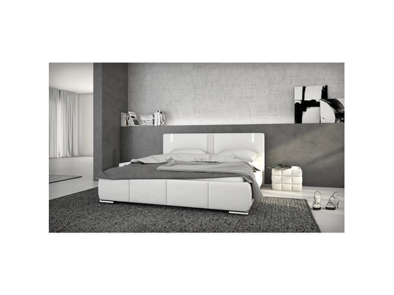polsterbett ricci 180x200cm led und lautsprecher. Black Bedroom Furniture Sets. Home Design Ideas