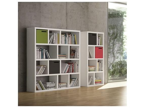 regal raumteiler berlin 4 levels 150 wei matt temahome. Black Bedroom Furniture Sets. Home Design Ideas