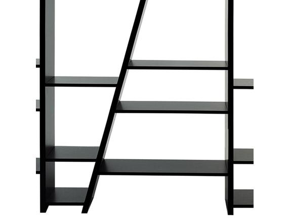 regal raumteiler delta 005 schr ges gestell schwarz matt. Black Bedroom Furniture Sets. Home Design Ideas
