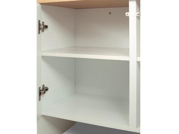 sideboard edge mit 4 t ren wei matt platte nussbaum temahome. Black Bedroom Furniture Sets. Home Design Ideas