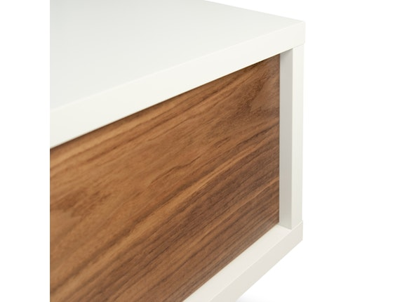 tv tisch slide 2 schiebet ren wei nussbaum. Black Bedroom Furniture Sets. Home Design Ideas