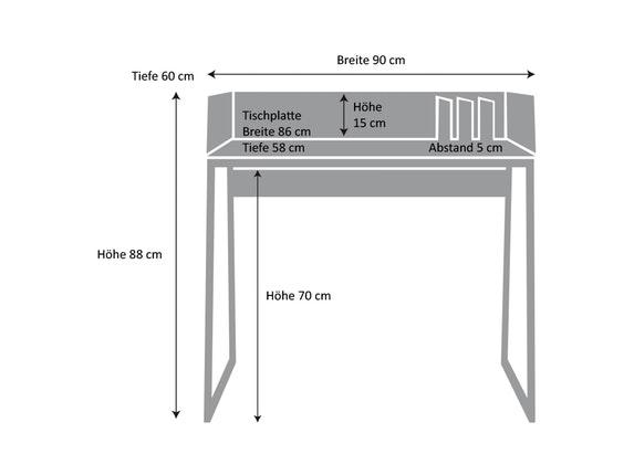 schreibtisch volga mit ablagen schwarz eiche temahome. Black Bedroom Furniture Sets. Home Design Ideas