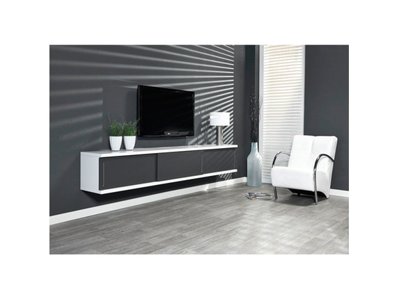 tv h ngeschrank gray 3 schiebet ren salesfever. Black Bedroom Furniture Sets. Home Design Ideas