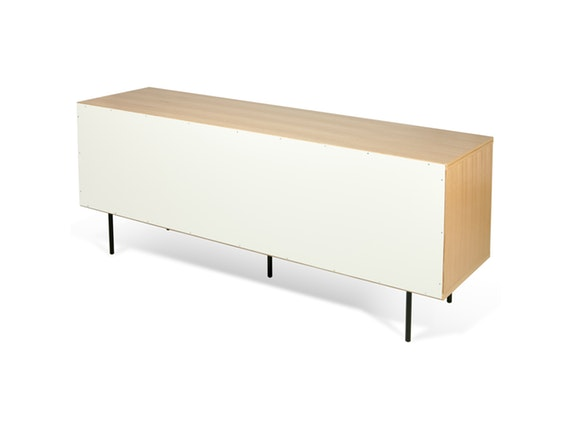 sideboard dann eiche mit schiebet ren wei grau mit metallf en temahome. Black Bedroom Furniture Sets. Home Design Ideas