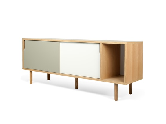 sideboard dann eiche mit schiebet ren wei grau mit holzf en temahome. Black Bedroom Furniture Sets. Home Design Ideas