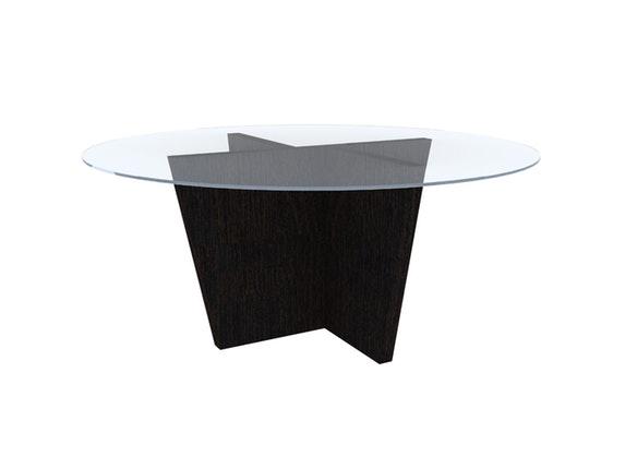esstisch oliva rund mit glasplatte wenge temahome. Black Bedroom Furniture Sets. Home Design Ideas