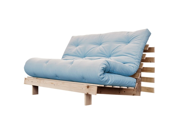 schlafsofa roots raw 140 cm hellblau karup. Black Bedroom Furniture Sets. Home Design Ideas