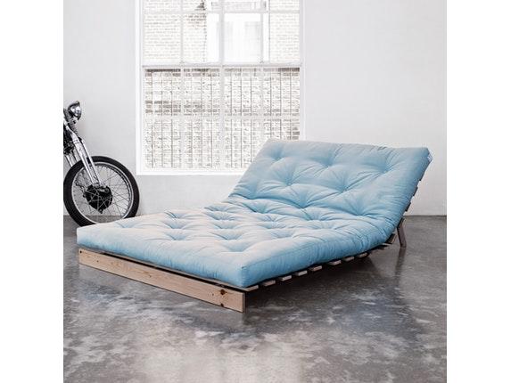 schlafsofa roots raw 140 cm hellblau karup. Black Bedroom Furniture Sets. Home Design Ideas