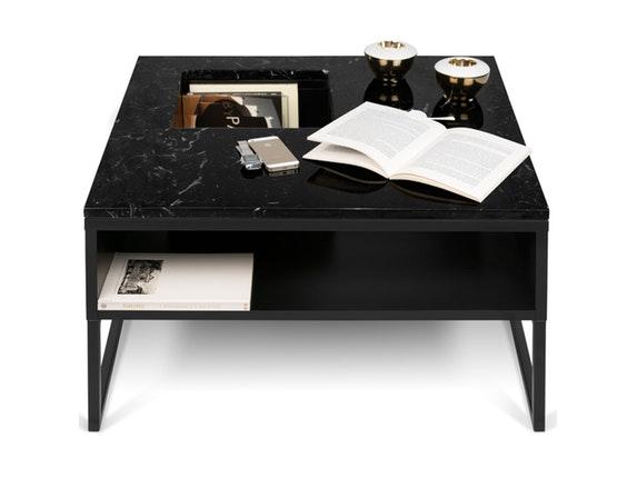 couchtisch sigma mit ablagefach marmor schwarz schwarz. Black Bedroom Furniture Sets. Home Design Ideas