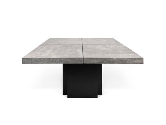 esstisch dusk 130 betonoptik schwarz temahome. Black Bedroom Furniture Sets. Home Design Ideas