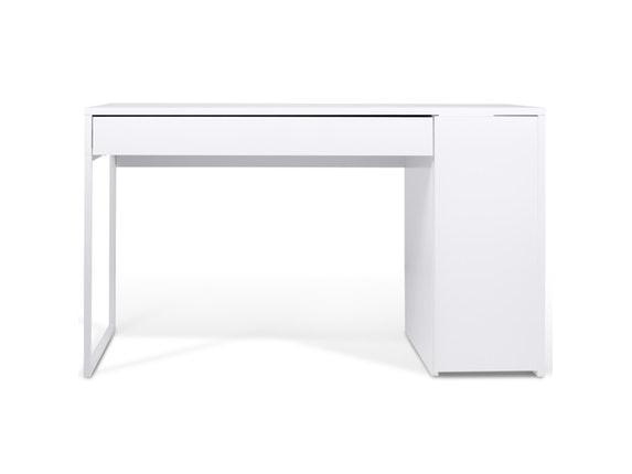 TemaHome Schreibtisch Prado Mit Schublade Weiß/Stahl Weiß N 7730 4972   1