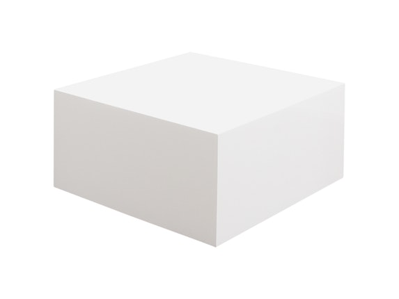 couchtisch kubus hochglanz wei 60 cm quadratisch. Black Bedroom Furniture Sets. Home Design Ideas