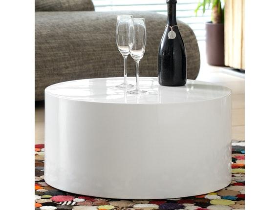 couchtisch kubus hochglanz wei 60 cm rund salesfever. Black Bedroom Furniture Sets. Home Design Ideas