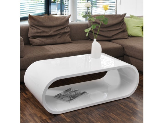 couchtisch finio 120x60 cm oval wei salesfever. Black Bedroom Furniture Sets. Home Design Ideas