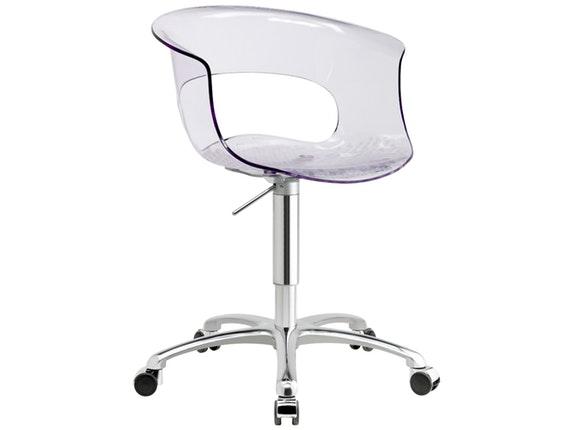 Schreibtischstuhl miss b office antishock transparent for Designer schreibtischstuhl