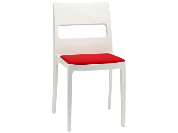 Designer stuhl sai linen kissen rot for Design stuhl rot