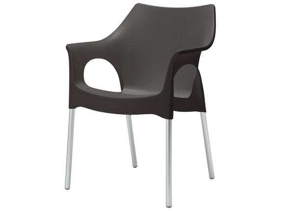 Designer Stuhl Mit Armlehnen Wohnzimmer | Designer Stuhl Ola Mit Armlehnen Anthrazit Scab Design