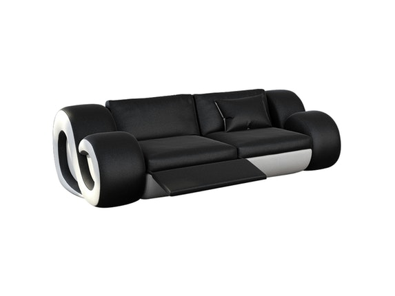 Sofa 2-Sitzer Nesta Mit Led Schwarz/Weiß » Innocent – Salesfever.De