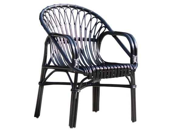 sessel mit armlehnen rattan r ckenlehne rund schwarz sit m bel. Black Bedroom Furniture Sets. Home Design Ideas