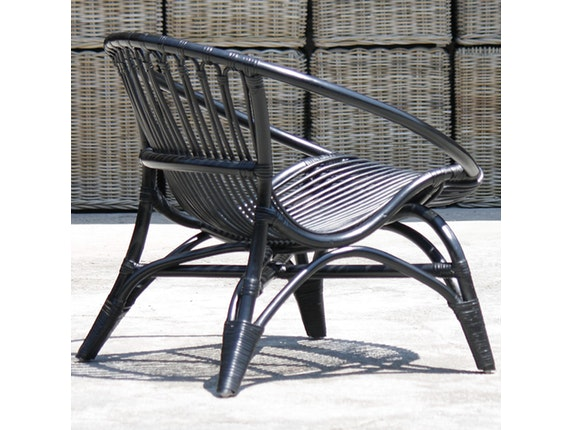 relaxsessel rattan rund schwarz sit m bel. Black Bedroom Furniture Sets. Home Design Ideas