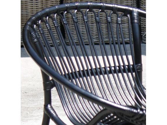 relaxsessel rattan rund schwarz. Black Bedroom Furniture Sets. Home Design Ideas