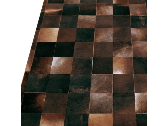 teppich caso kariert aus kuhfell 170x240 cm sit m bel. Black Bedroom Furniture Sets. Home Design Ideas