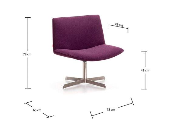 sessel sabu drehbar plush dunkelgrau safurn. Black Bedroom Furniture Sets. Home Design Ideas